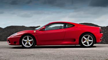 Ferrari 360 Modena side profile, Rosso Corsa