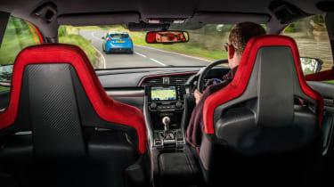 Honda Civic Type R - over-shoulder shot