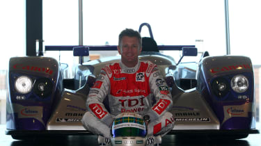 Audi's Allan Mcnish at Le Mans 24 hours