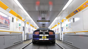 Shelby GT500 in the eurotunnel