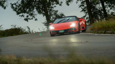 Lamborghini Huracán Evo Spyder – front cornering