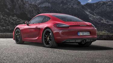 Porsche Cayman GTS red rear