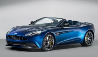 Aston Martin Vanquish Volante blue