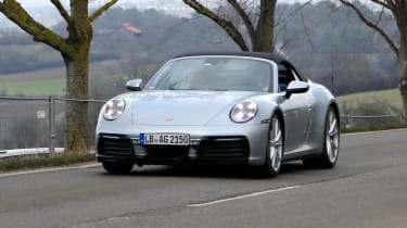 Porsche 911 Cabrio spy - front