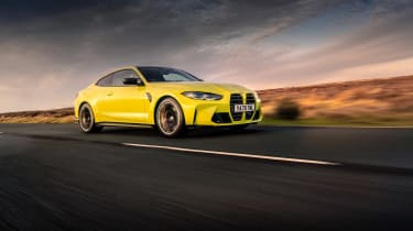 BMW M4 Competition 2021 review – front tracking