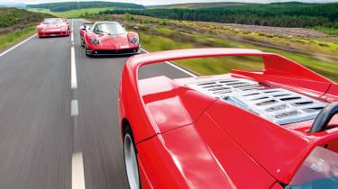 Ferrari F40, F50 and Pagani Zonda F