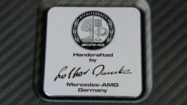 2013 Mercedes A45 AMG engine badge plaque