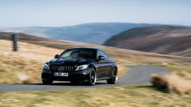 Mercedes-AMG C63 S Coupe black - front cornering