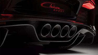 Bugatti Chiron Sport –exhausts