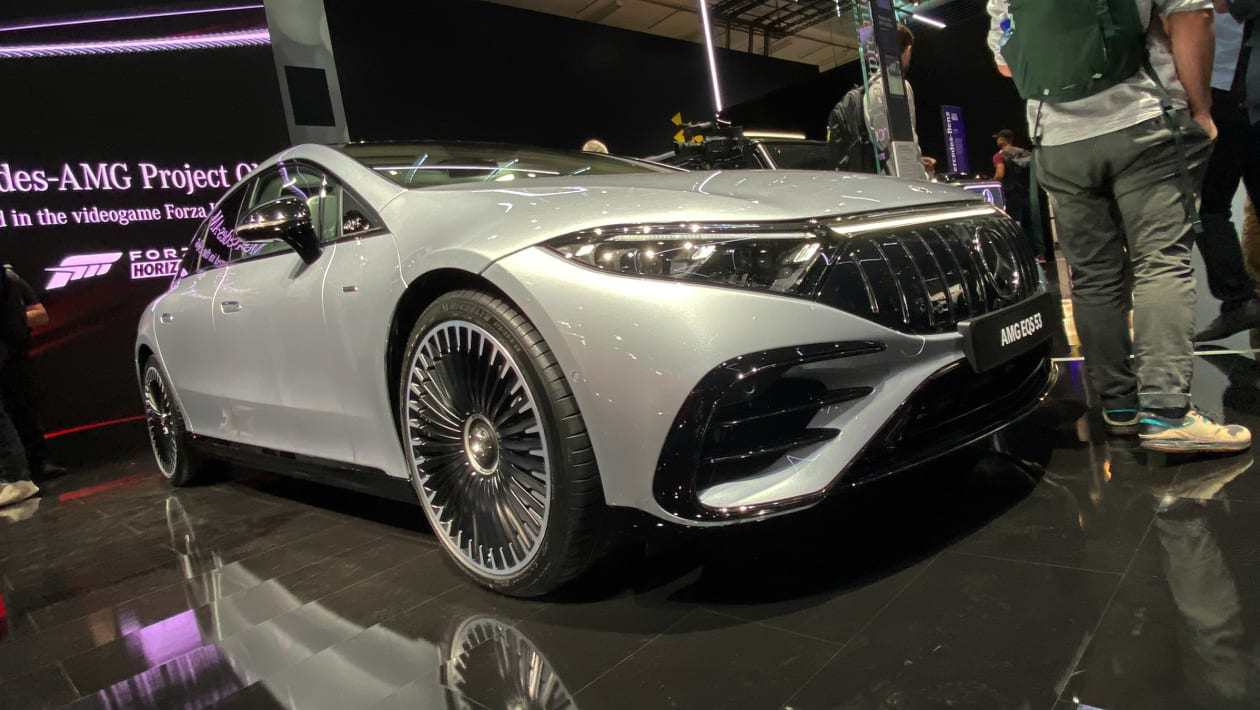 Mercedes-AMG EQS53 debuts in Munich – takes aim at the Tesla Model S Plaid