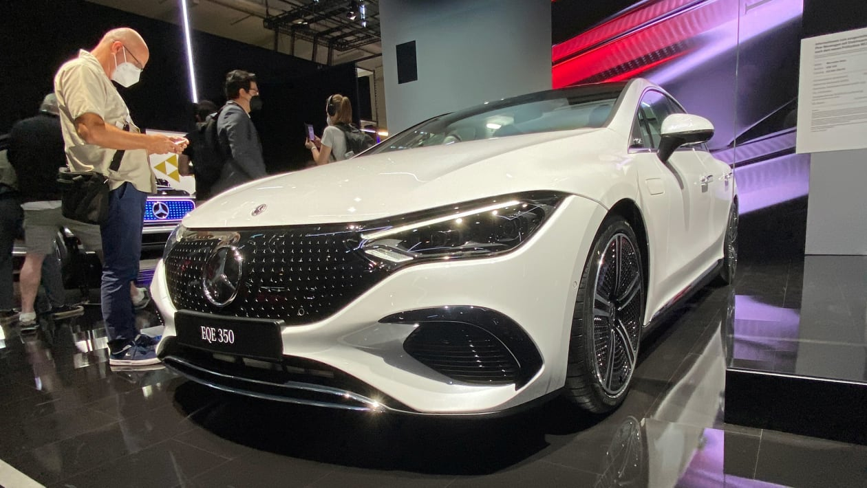 Mercedes-Benz EQE breaks cover – EV assault continues with E-class-sized saloon