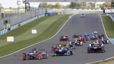 Formula E race practice completed