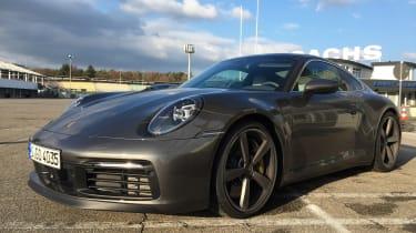 Porsche 911 on location - front quater