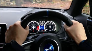 Alpine A110 – interior right-hand drive