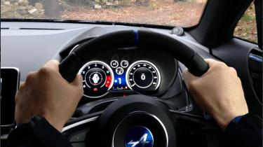 Alpine A110 – interior right-hand drive