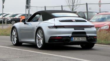 Porsche 911 Cabrio spy - rear