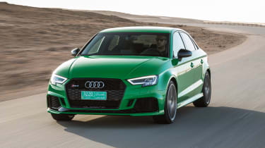 Audi RS3 Saloon Green front 1