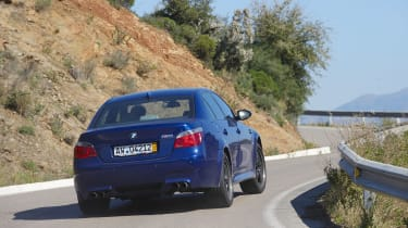 BMW M5 cornering rear
