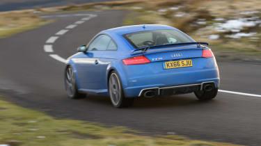 Audi TT RS rear cornering