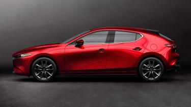 Mazda 3 hatch revealed - profile
