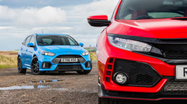 Ford Focus RS and Honda Civic Type R