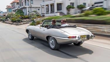 Jaguar E-type Zero - driving rear quarter