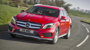 Mercedes GLA250 AMG red front