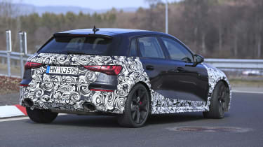 Audi RS3 mule 2021 - rear quarter 2