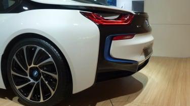 BMW i8 hybrid supercar rear styling
