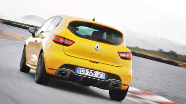 Renaultsport Clio 200 Turbo rear on track with cup chassis