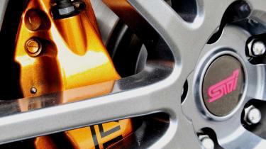 Subaru Impreza WRX STi Spec C wheel and caliper