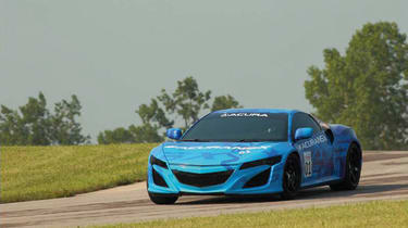 Honda NSX concept on track Ohio