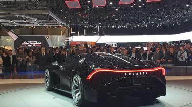 Bugatti La Voiture Noire at Geneva 2019 rear