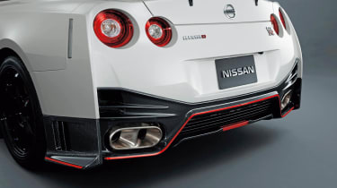 Nissan GT-R Nismo rear diffuser exhaust pipes
