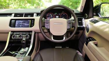 2013 Range Rover Sport Supercharged steering wheel dashboard