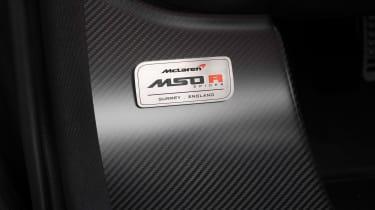 McLaren MSO R - plaque