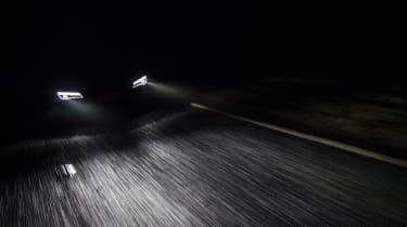 Audi R8 LMX night drive - lights
