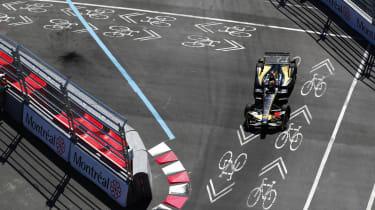 Race winner Vergne picks his way around the tight street circuit