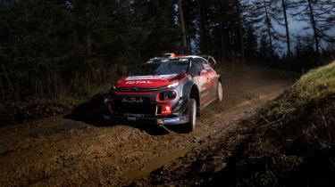 WRC Rally Wales - Citroen drive by