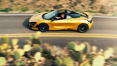 McLaren 720S Spider gold - side
