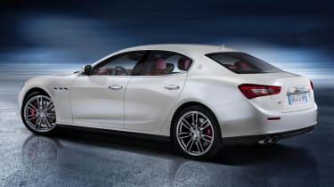 New Maserati Ghibli white rear end