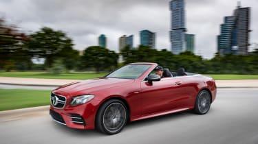 Mercedes-AMG E53 Cabriolet US - front quarter