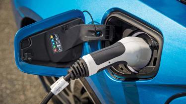 BMW i8 charging port