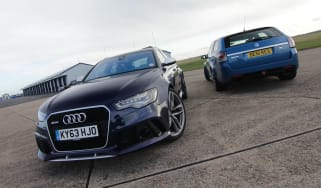 Audi RS6 v Vauxhall VXR8 Clubsport Tourer track video
