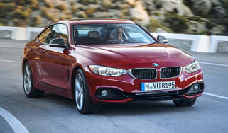 New BMW 4-series coupe red