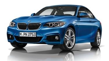 BMW 220d M Sport blue front
