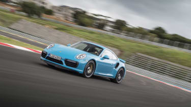 991.2 Porsche 911 Turbo S - front driving