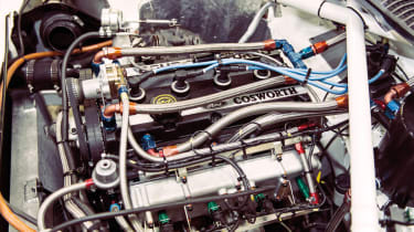 Page knows the Sierra RS500 Cosworth  engine well – he built the very first one