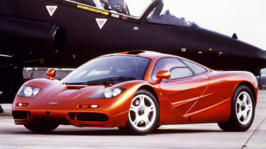 243mph McLaren F1: Conceived by Gordon Murray and built by McLaren to be the best and fastest car on the planet using carbon