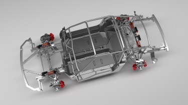 Ruf SCR 2018 – Carbonfibre monocoque chassis